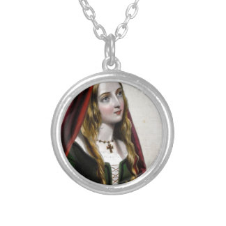 Queen Elizabeth Woodville Silver Plated Necklace