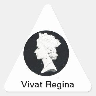 Queen Elizabzth II, Vivat regina Triangle Sticker