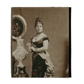 Queen Emma (1836-85) (sepia photograph) iPad Folio Cases