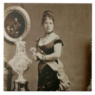 Queen Emma (1836-85) (sepia photograph) Tile