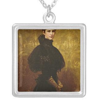 Queen Erzsebet Square Pendant Necklace