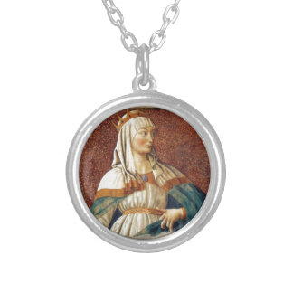 Queen Esther Round Pendant Necklace