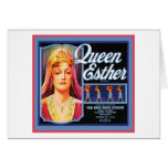 Queen Esther Vintage Crate Label Greeting Cards