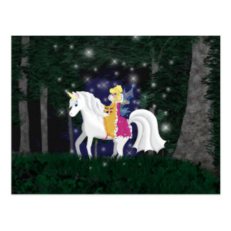 Queen Faery and Unicorn Forest Postcard