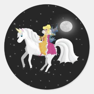 Queen Faery and Unicorn Sticker