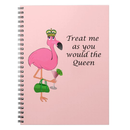 Queen Flamingo Notebook