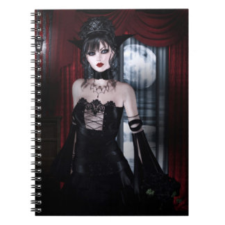 Queen for Eternity Vampire Gothic Girls Art Notebooks