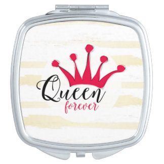 """Queen forever"" for big girl and little princess Compact Mirror"
