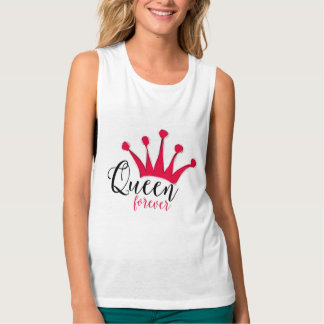 """Queen forever"" for big girl and little princess Tank Top"