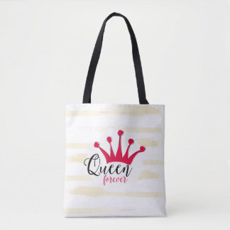 """Queen forever"" for big girl and little princess Tote Bag"