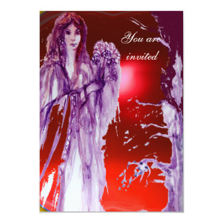 QUEEN GUINEVERE 13 CM X 18 CM INVITATION CARD