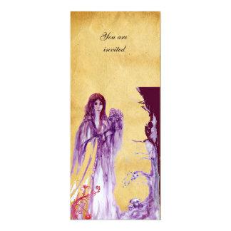 QUEEN GUINEVERE, Brown Parchment 10 Cm X 24 Cm Invitation Card