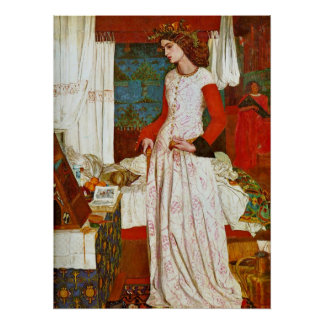 Queen Guinevere by William Morris Poster