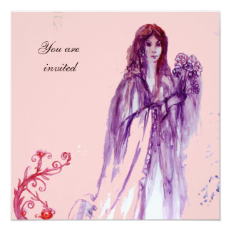 QUEEN GUINEVERE purple pink red 13 Cm X 13 Cm Square Invitation Card