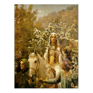 Queen Guinevere's Maying Postcard