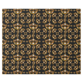 Queen hearts gold crown tiara black gift wrap wrapping paper
