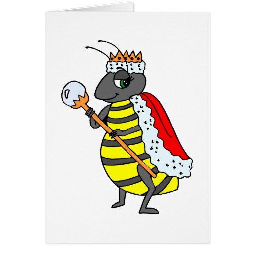 Queen Honeybee Diva Cartoon Card