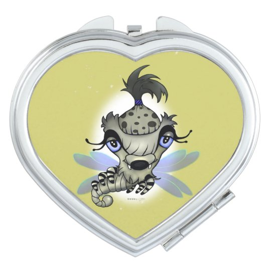 QUEEN HORSHA CARTOON compact mirror HEART
