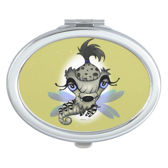 QUEEN HORSHA CARTOON compact mirror OVAL