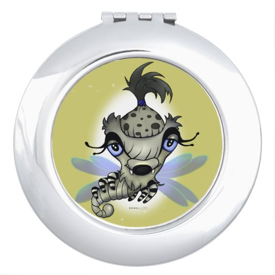 QUEEN HORSHA CARTOON compact mirror ROUND