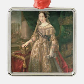 Queen Isabella II  1843 Silver-Colored Square Decoration