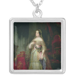 Queen Isabella II  of Spain Silver Plated Necklace