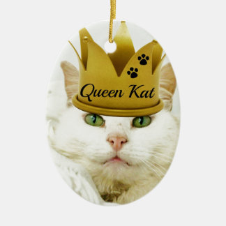 Queen Kat Ceramic Oval Decoration