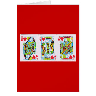 Queen,King,Jack of Hearts Card