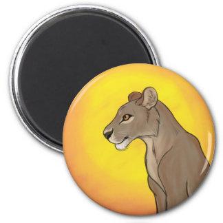 Queen Lioness 6 Cm Round Magnet