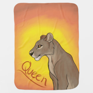 Queen Lioness Swaddle Blankets