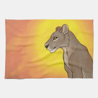 Queen Lioness Tea Towel