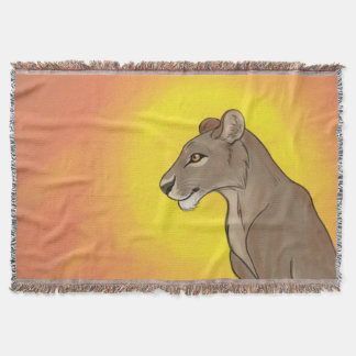 Queen Lioness Throw Blanket