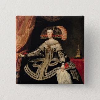 Queen Maria Anna  of Austria, 1652 15 Cm Square Badge