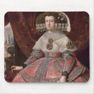 Queen Maria Anna of Spain in a red dress Mouse Mat