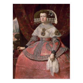 Queen Maria Anna of Spain in a red dress Postcard