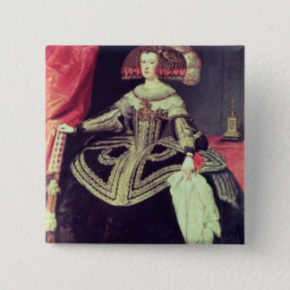 Queen Mariana of Austria  c.1653 15 Cm Square Badge