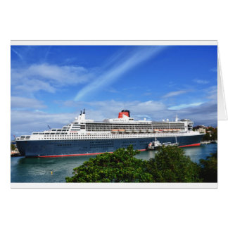 Queen Mary 2 Cruise Ship Card