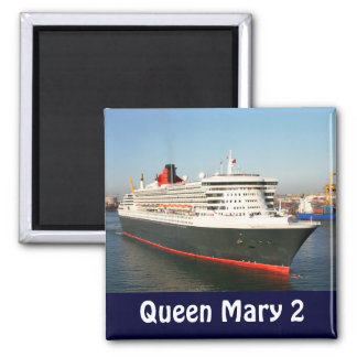 Queen Mary 2 Cruise Ship Photo Magnet