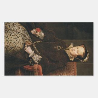 Queen Mary I of England Maria Tudor by Antonis Mor Rectangular Sticker