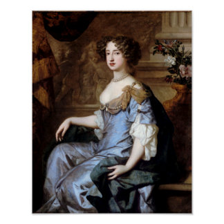 Queen Mary II by Sir Peter Lely Poster