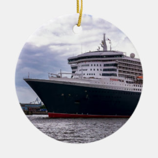 Queen Mary II in Hamburg Harbour Christmas Ornament
