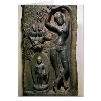 Queen Maya giving birth to the future Buddha Card