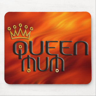 Queen Mum / gold crown Mouse Mat