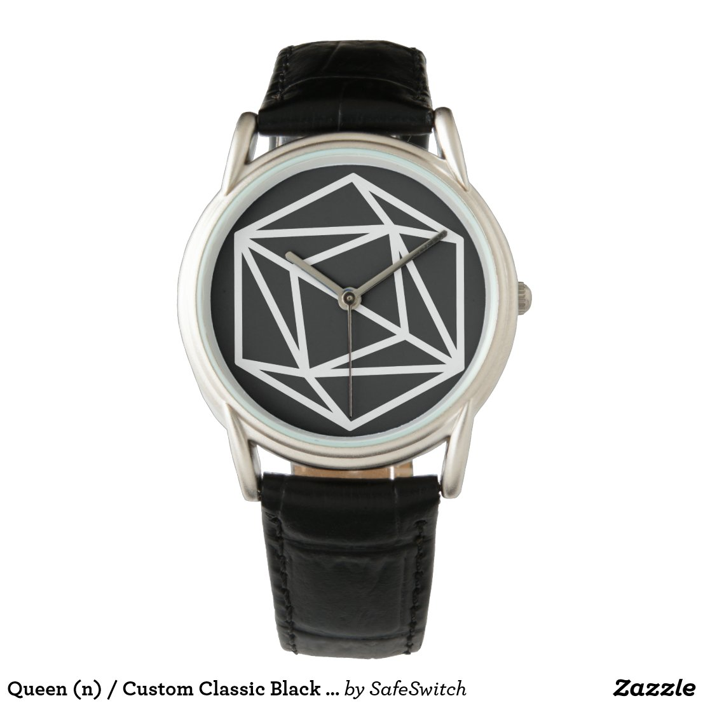 Queen (n) / Custom Classic Black Leather