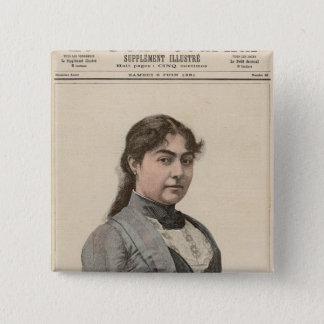 Queen Natalija of Serbia 15 Cm Square Badge