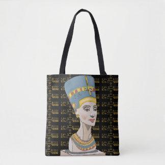 Queen Nefertiti with Cartouche Tote Bag