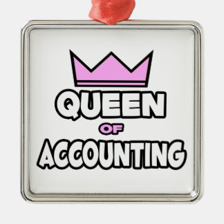 Queen of Accounting Christmas Ornament