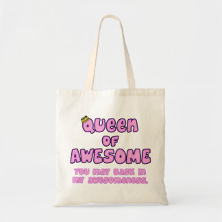 Queen of Awesome Budget Tote Bag