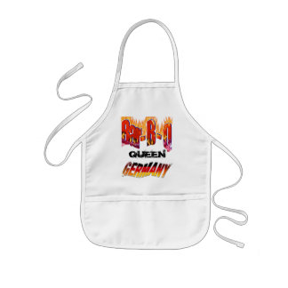 Queen of Bar-B-Q in Germany Kids' Apron