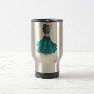 Queen of Beledi Belly Dancer Stainless Steel Travel Mug